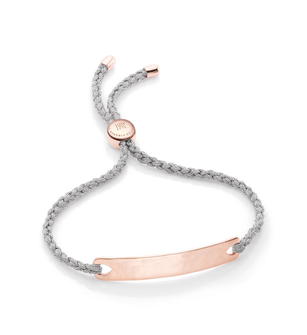 Rose Gold Vermeil Havana Friendship Bracelet - Silver Metallica - Monica Vinader
