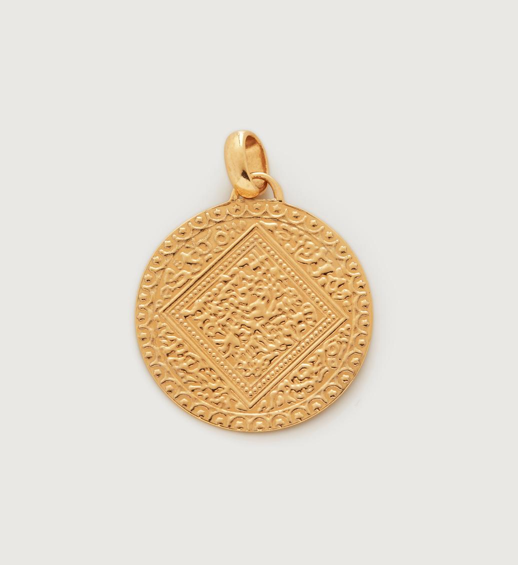 Gold Vermeil Marie Mini Pendant Charm - Gold Vermeil Marie Mini Pendant Charm - Monica Vinader
