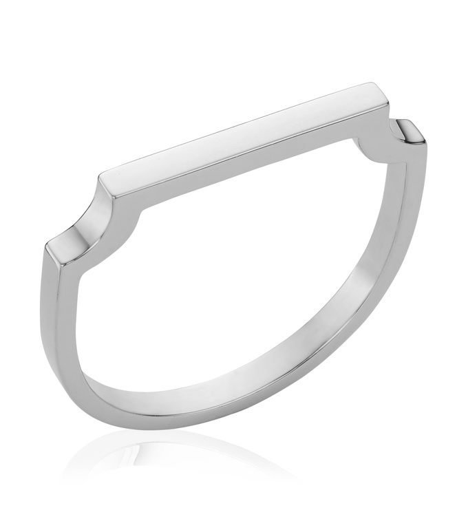 Sterling Silver Signature Thin Ring - Monica Vinader