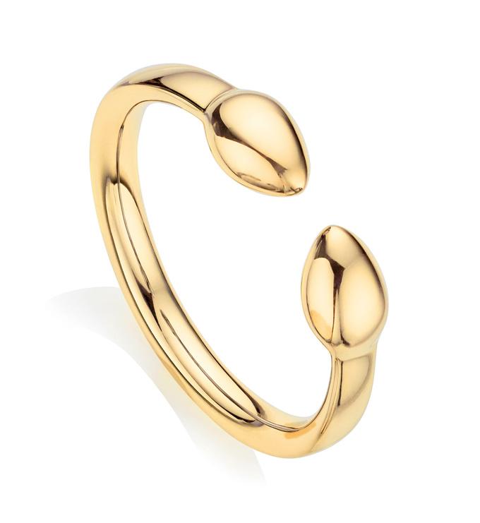 Gold Vermeil Fiji Bud Stacking Ring - Monica Vinader