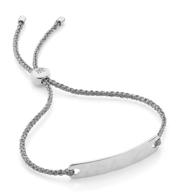 Sterling Silver Havana Mini Friendship Bracelet - Silver Metallica - Monica Vinader