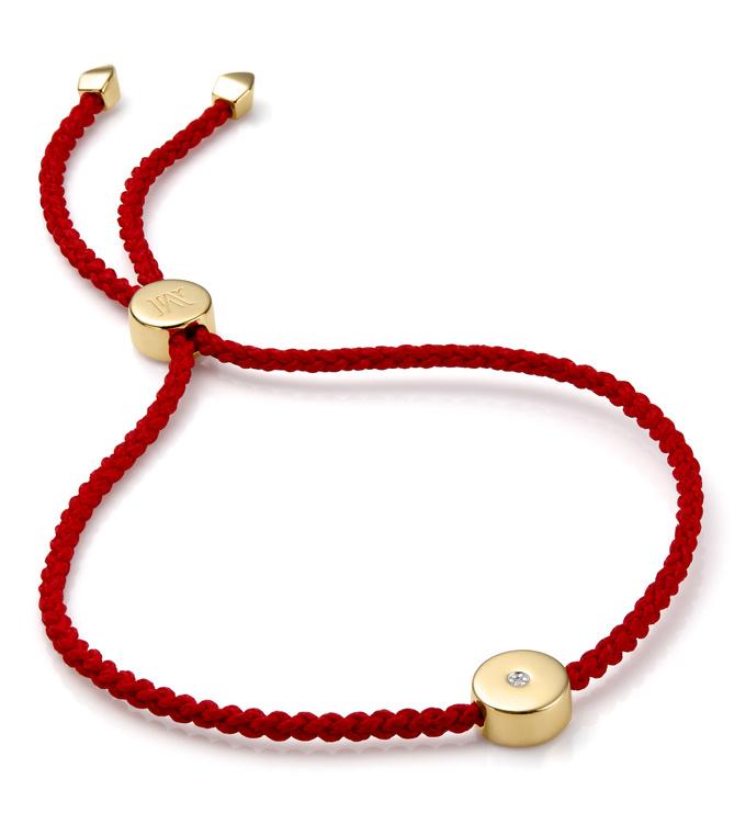 Gold Vermeil Linear Solo Friendship Diamond Bracelet - Diamond - Monica Vinader