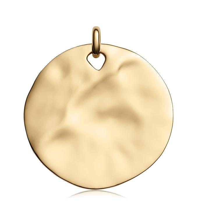 Gold Vermeil Siren Shore Pendant Charm - Monica Vinader