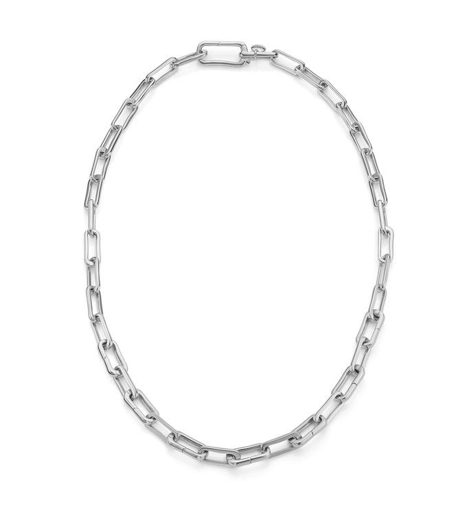 Sterling Silver Alta Capture Charm Necklace - Monica Vinader