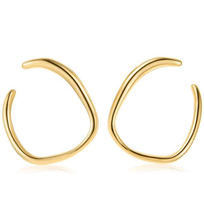 Gold Vermeil Nura Reef Wrap Earrings - Monica Vinader