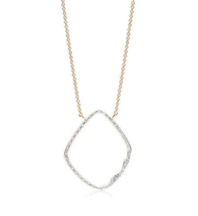 Gold Vermeil Riva Hoop Cocktail Diamond Necklace - Diamond - Monica Vinader