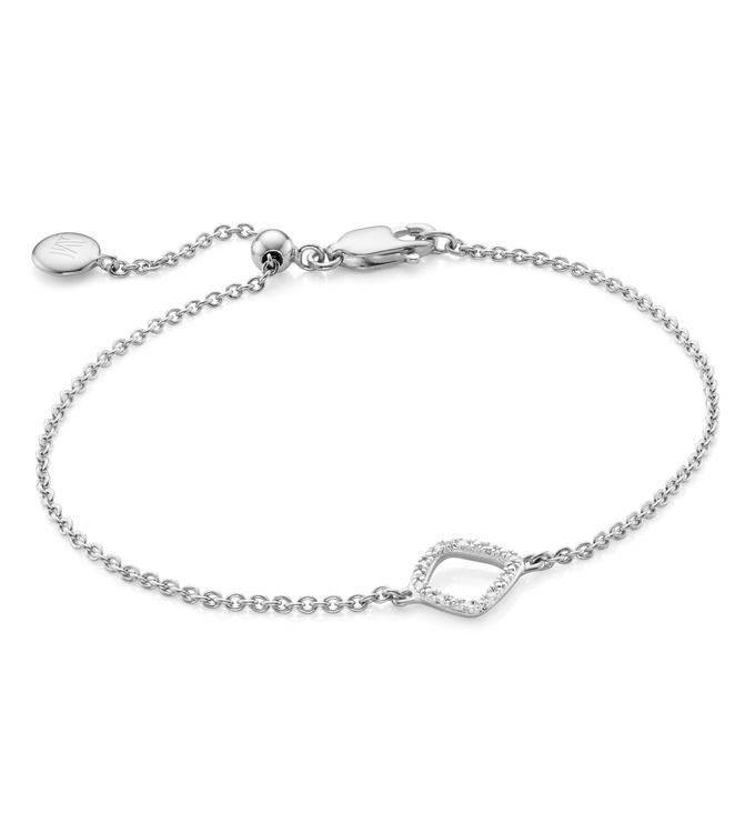 Sterling Silver Riva Mini Kite Bracelet - Diamond - Monica Vinader