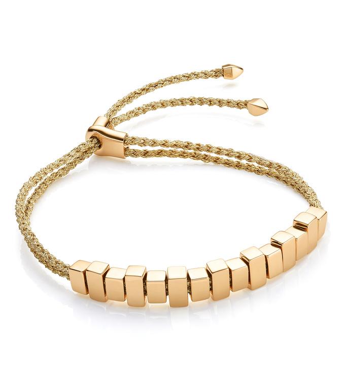 Gold Vermeil Linear Ingot Bracelet - Gold Metallica - Monica Vinader