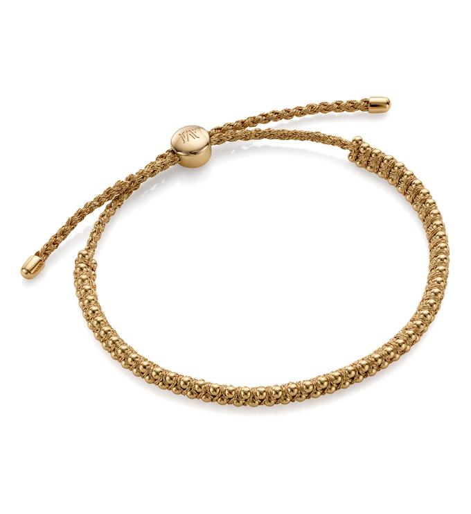 Gold Vermeil Rio Mini Friendship Bracelet - Gold Metallica - Monica Vinader