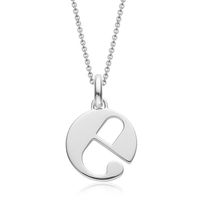 Alphabet Pendant E Chain