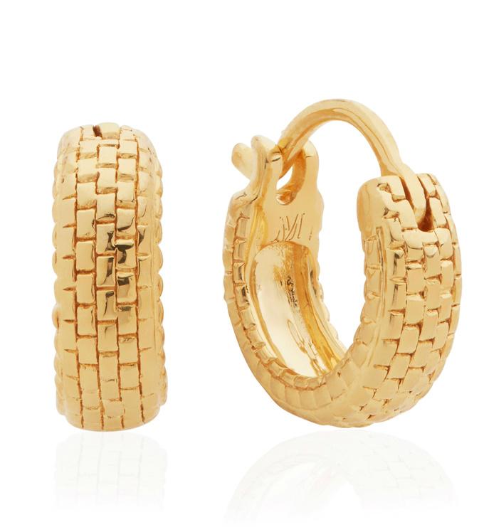 Gold Vermeil Doina Huggie Earrings - Monica Vinader