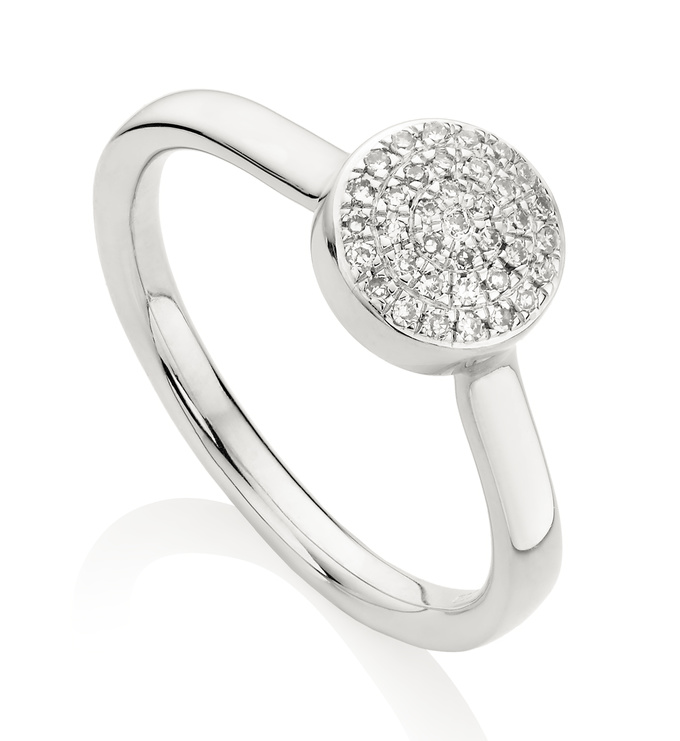 Ava Button Ring - Diamond