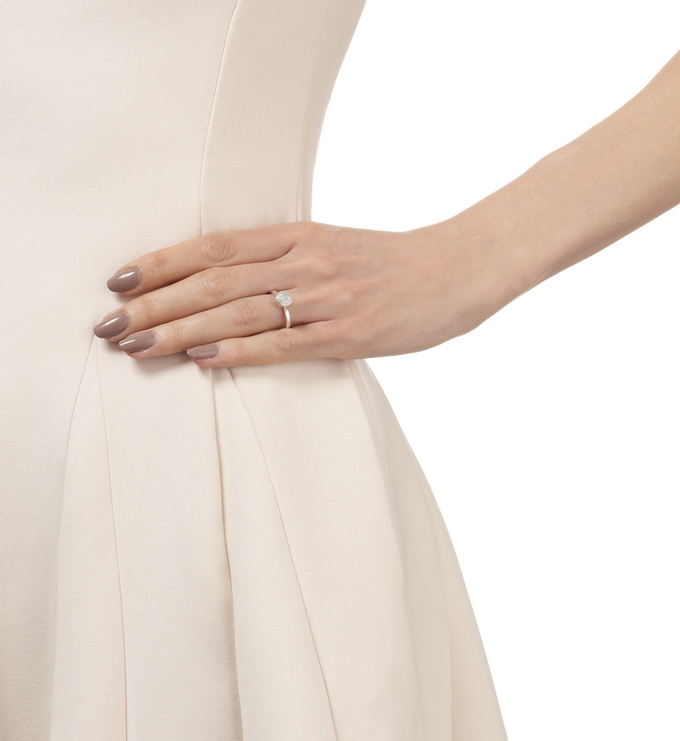 Ava Button Ring - Diamond Model