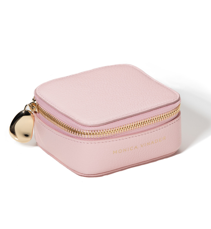 Leather Leather Trinket Box - Pale Pink - Monica Vinader
