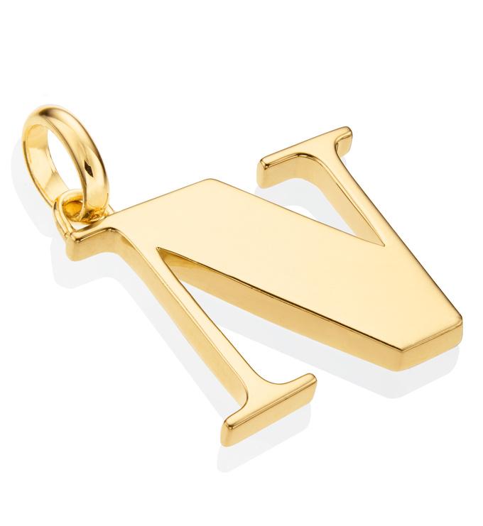 Gold Vermeil Alphabet Pendant N 2