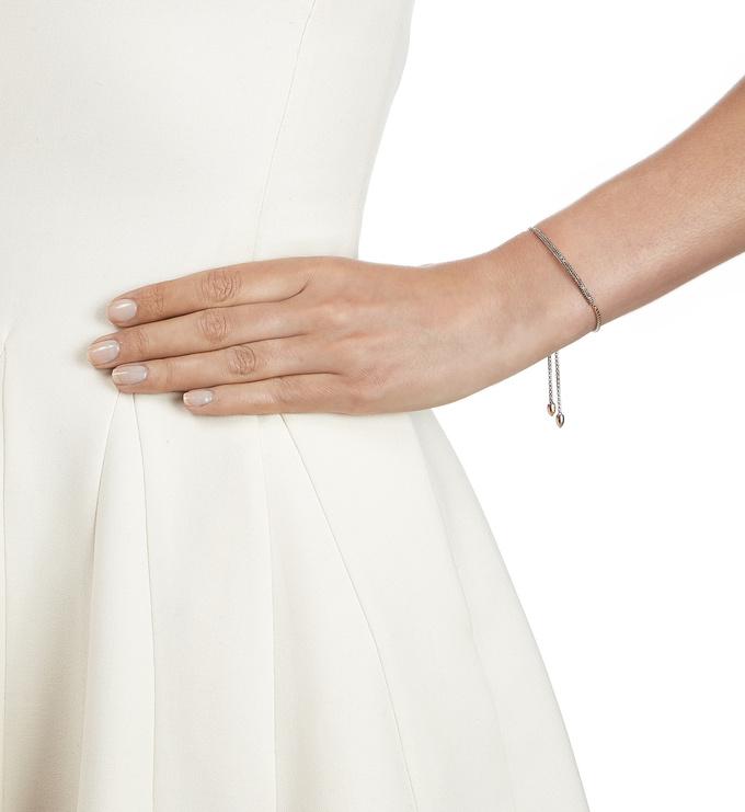 Rose Gold Vermeil Stellar Mini Bar Bracelet - Champagne Diamond Model