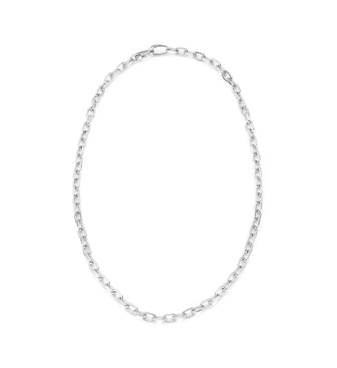 Sterling Silver Alta Capture Mini Link Necklace - Monica Vinader