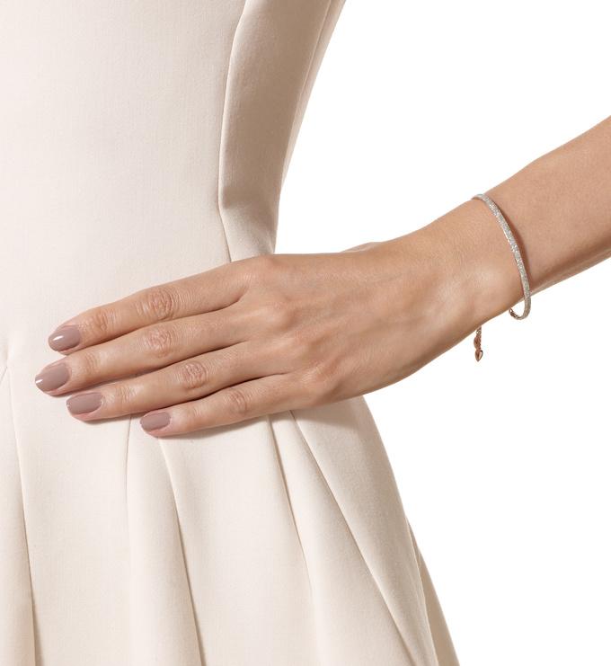 Rose Gold Vermeil Fiji Pave Bar Petite Bracelet - Diamond Model
