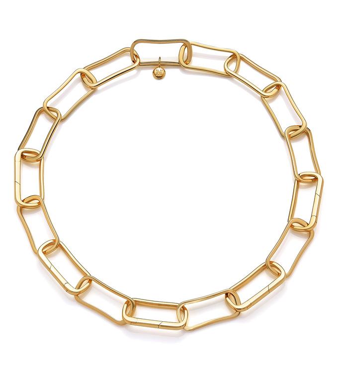 Gold Vermeil Alta Capture Large Link Necklace - Monica Vinader