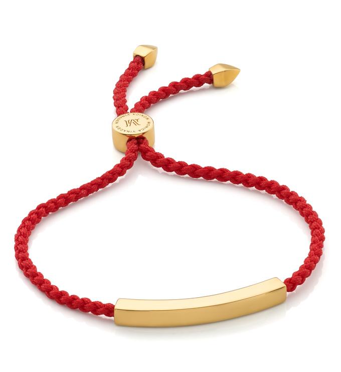 Linear Friendship Bracelet Rose Gold