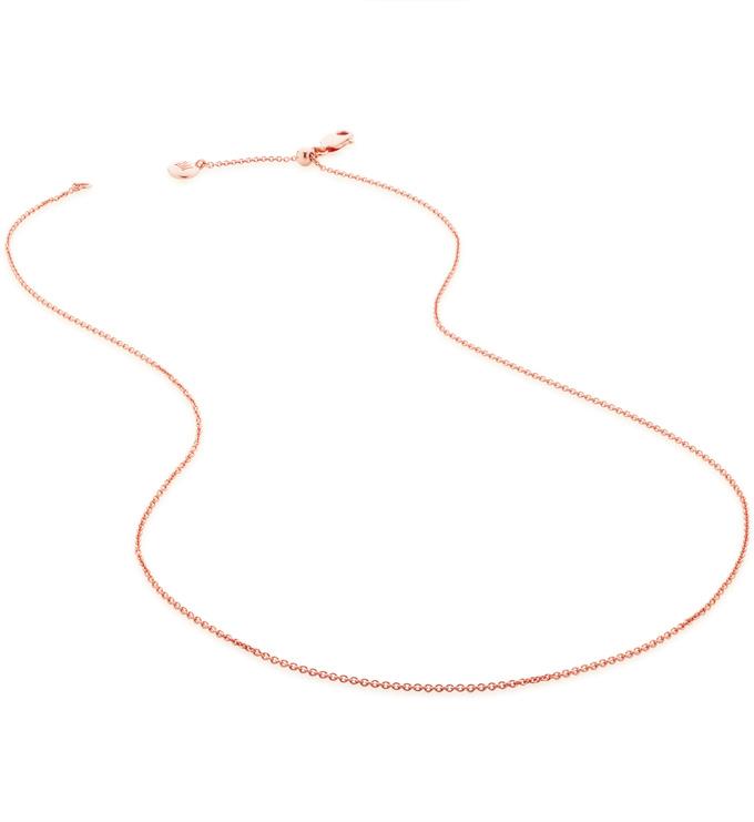 Rose Gold Vermeil Fine Chain 17