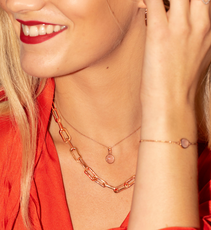 Fine Chain 17 43cm With Adjuster In 18ct Rose Gold Vermeil On Sterling Silver Jewellery By Monica Vinader