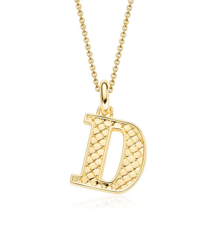 Gold Vermeil Alphabet Pendant D Chain