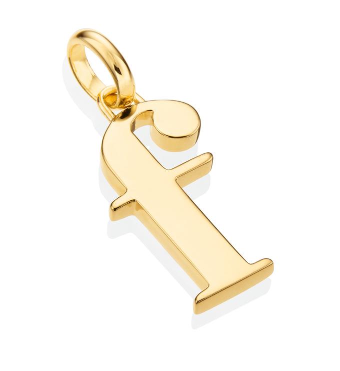 Gold Vermeil Alphabet Pendant F 2