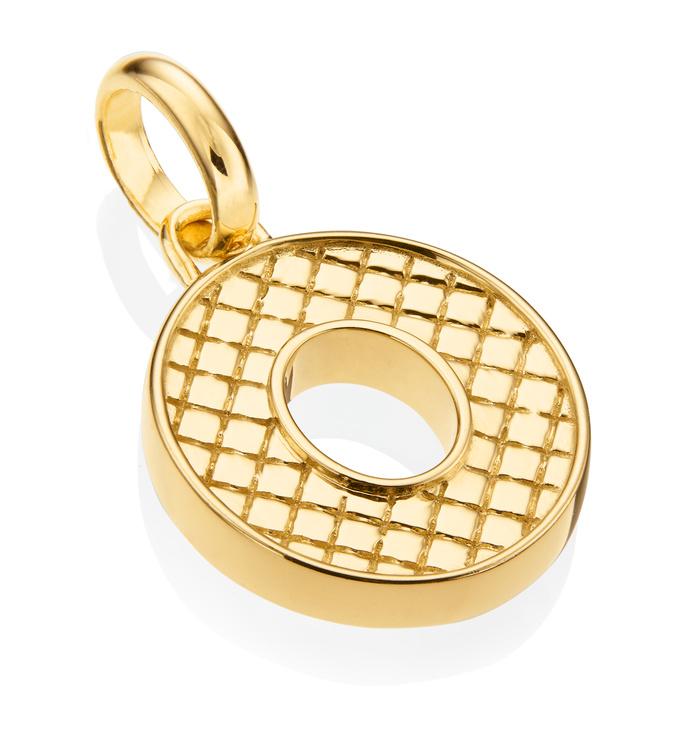 Gold Vermeil Alphabet Pendant O 2