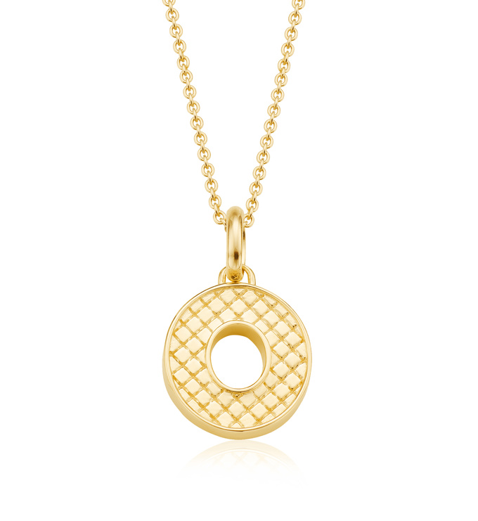 Gold Vermeil Alphabet Pendant O Chain
