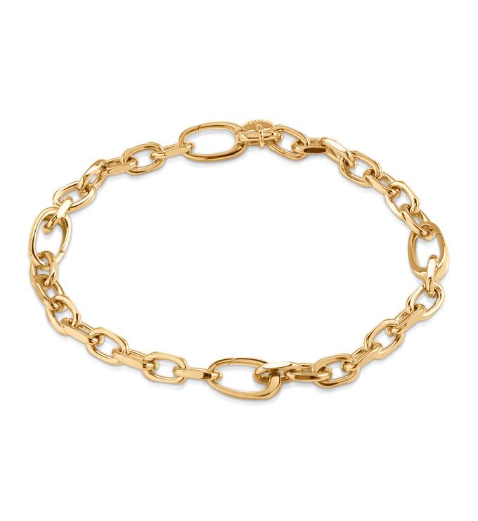Gold Vermeil Alta Capture Mini Link Charm Bracelet - Monica Vinader