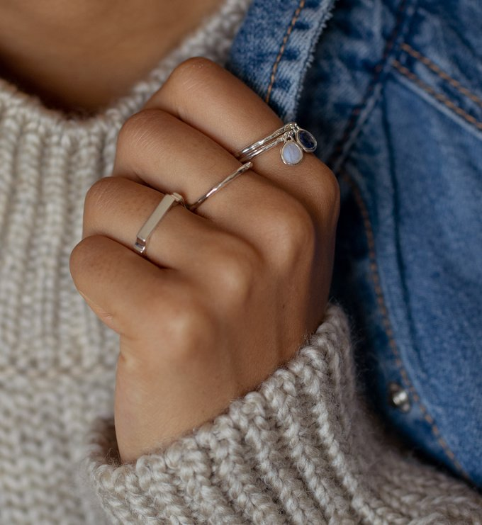 Hammered Ring Stacking Ring Band Ring 925 Sterling Silver Handmade Ring Ss338 Statement Ring