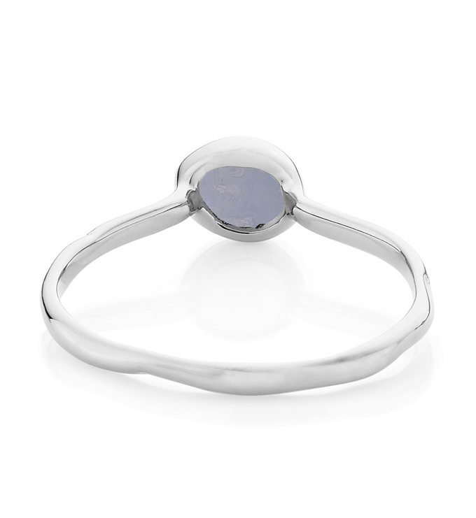 Blue Lace Agate Siren small stacking ring back view