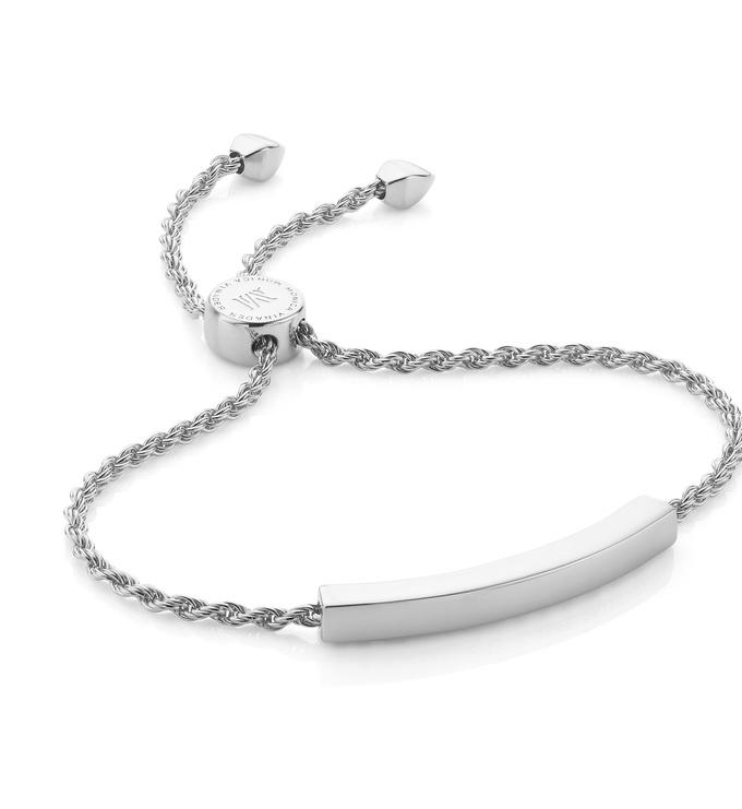 Silver Linear Chain Bracelet