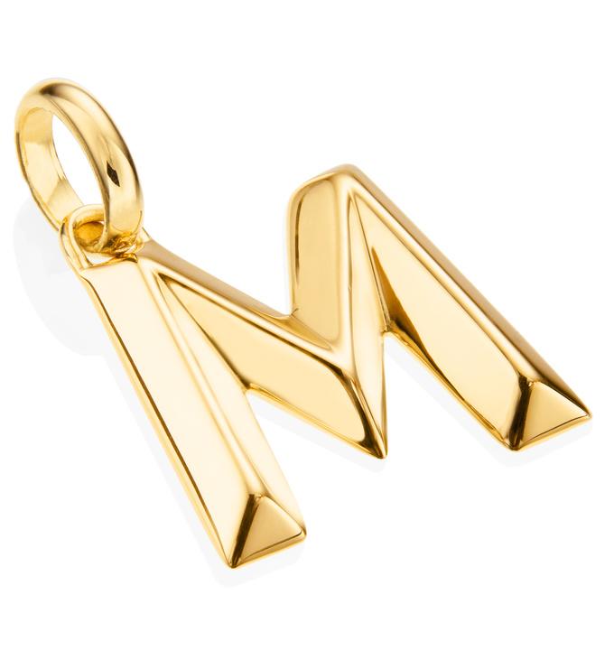 Gold Vermeil Alphabet Pendant M 2