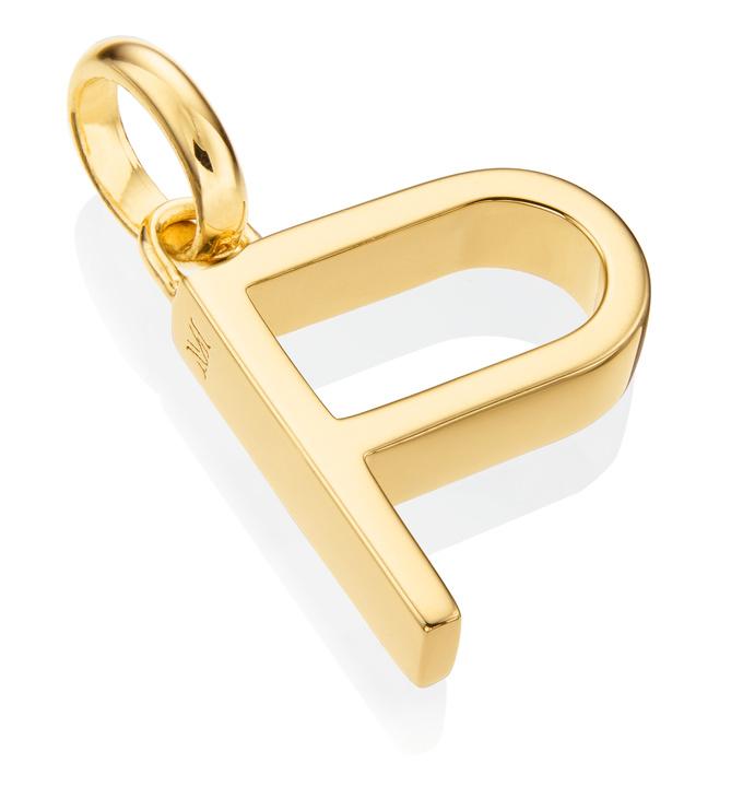 Gold Vermeil Alphabet Pendant P