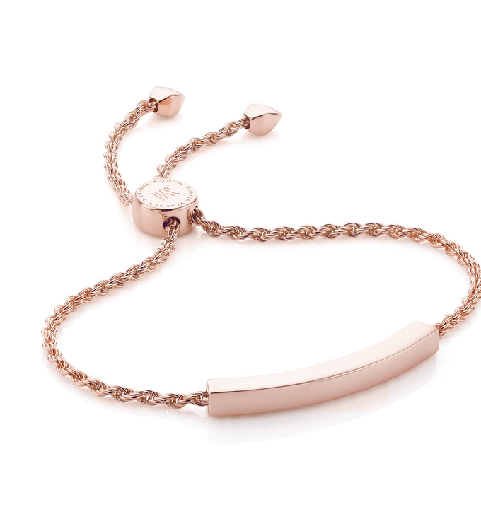 Rose Gold Vermeil Linear Chain Bracelet