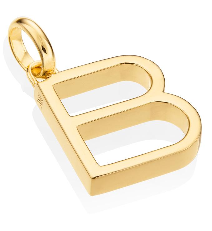 Gold Vermeil Alphabet Pendant B 2