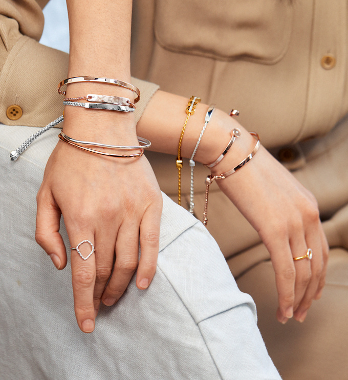 Rose Gold Vermeil Havana Mini Friendship Chain Bracelet - Monica Vinader