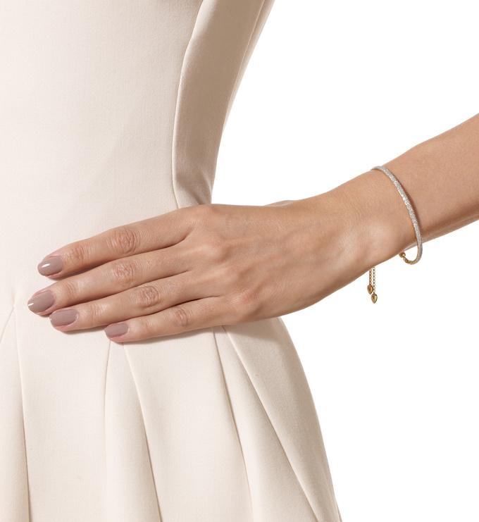 Gold Vermeil Fiji Pave Bar Petite Bracelet - Diamond Model