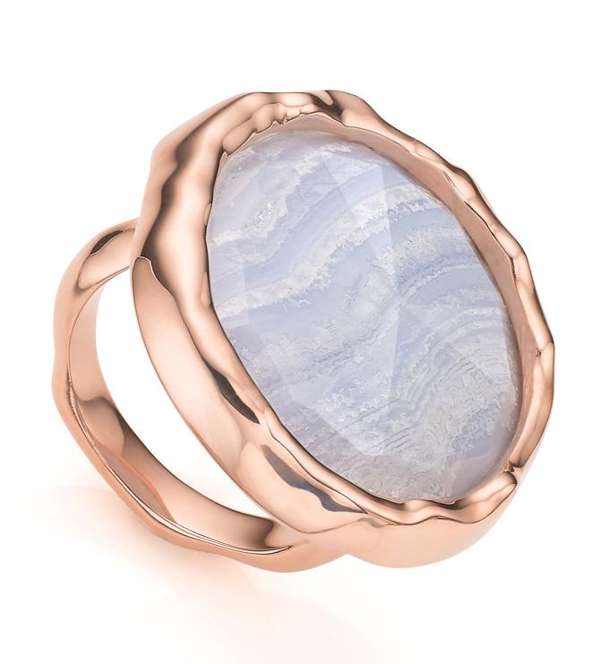 Rose Gold Vermeil Siren Cocktail Round Ring