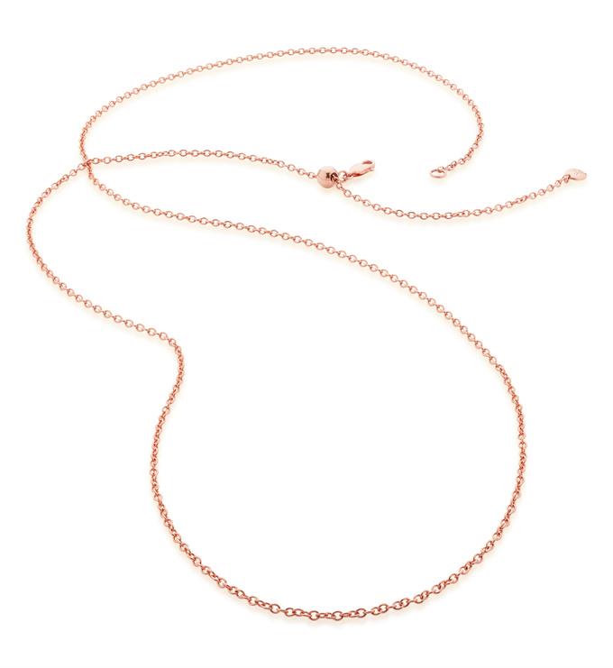 Rose Gold Vermeil Rolo Chain 32