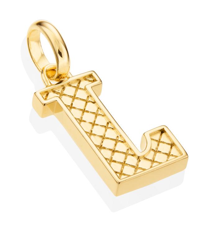 Gold Vermeil Alphabet Pendant L 2