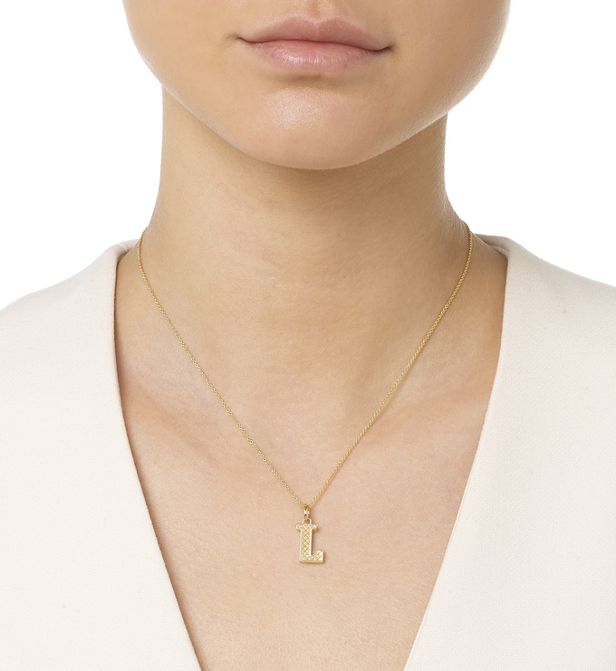 Gold Vermeil Alphabet Pendant L Model