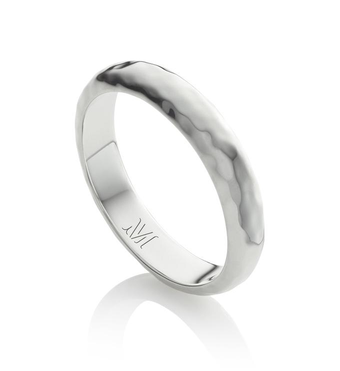 Sterling Silver Havana Thin Ring - Monica Vinader