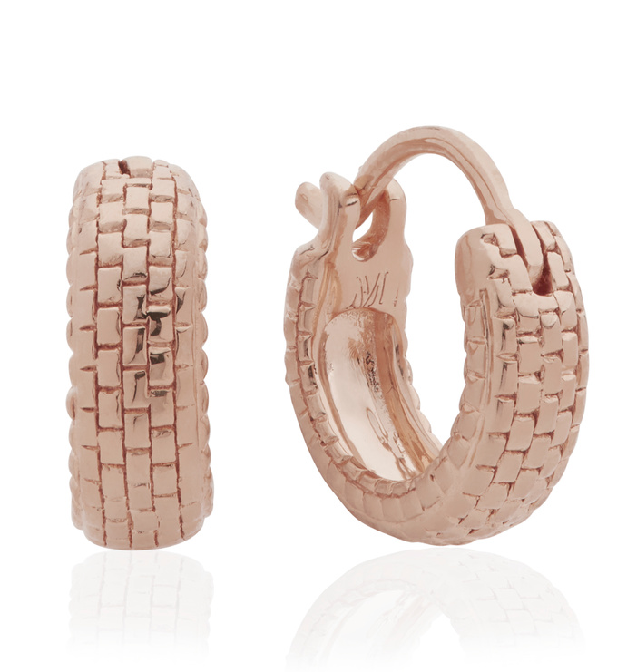 Rose Gold Vermeil Doina Huggie Earrings - Monica Vinader