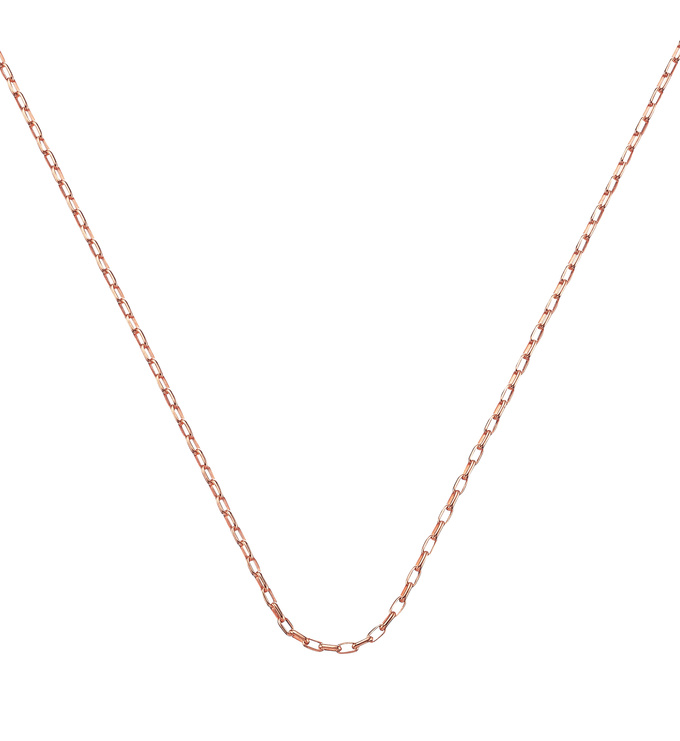 Rose Gold Vermeil Fine Open Link Chain - 30