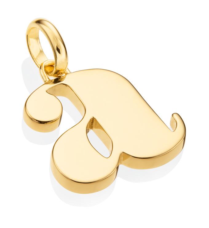 Gold Vermeil Alphabet Pendant A 2