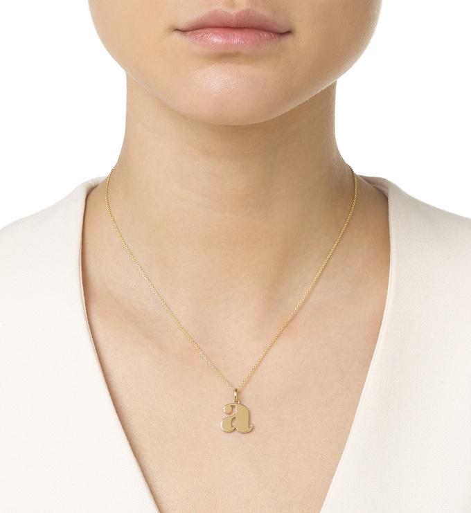 Gold Vermeil Alphabet Pendant A Chain