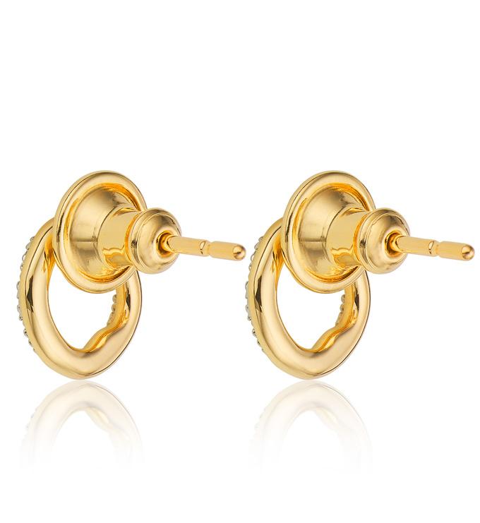 Gold Vermeil Riva Circle Stud Earrings Back